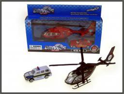 Hipo Helikopter 18cm z autem (HXCW03)