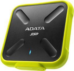 Dysk zewnętrzny ADATA SSD 256 GB Żółty (ASD700-256GU3-CYL)