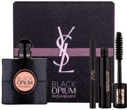 YVES SAINT LAURENT Opium Black Pour Femme Zestaw dla kobiet EDP 50ml + MASCARA Volume Effet Faux Cils 2ml + Long-Lasting Eye Pencil 0.8g
