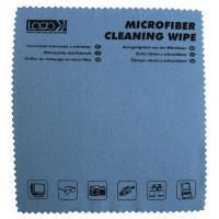 Logo Środki czyszczące ściereczka, mikrowłókno z nadrukiem, 30x30cm, niebieska, LOGO - 24245