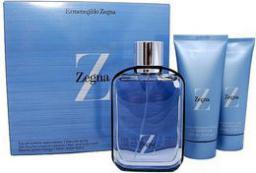 """Ermenegildo Zegna """"Z"""" Zegna Zestaw dla mężczyzn EDT 100ml + Balsam po goleniu  100ml + Żel pod prysznic 100ml"""