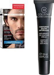 Collistar Krem do twarzy z zarostem Uomo Face & Beard Moisturizing Fluid 50ml + Mini Anti-Wrinkle Eye Contour Creme 8.5ml