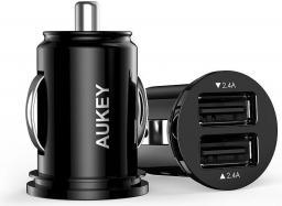 Ładowarka Aukey Uniwersalna 2x USB 4.8A Czarna (CC-S1)