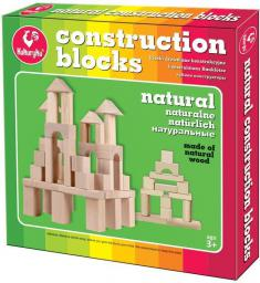 Kukuryku Klocki drewniane konstrukcyjne naturalne 28 szt. (222539)
