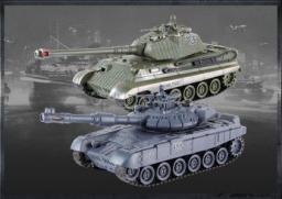 Gimmik Zestaw wzajemnie walczących czołgów Russian T90 v2 i German King Tiger v2 (UF/99825)