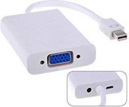 Kabel MicroConnect DisplayPort Mini MiniJack 3.5 mm D-Sub (VGA), Biały (MDPVGAAUDIO)