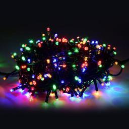 Lampki choinkowe LED na kabel kolorowy 100szt.