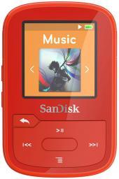 Odtwarzacz MP3 SanDisk SANSA Clip Sport Plus 16GB, czerwony (SDMX28-016G-G46R)