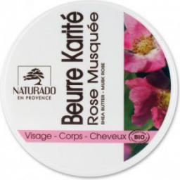 Naturado Odżywcze masło shea z olejkiem różanym BIO 150 ml