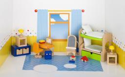 Goki Mebelki do pokoju dziecka z łóżkiem piętrowym, 28 elementów (51746)
