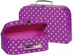 Goki Liliowe walizki (60106)