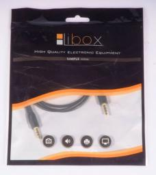 Kabel Libox Jack 3.5mm - Jack 3.5mm 1m czarny (LB0061)