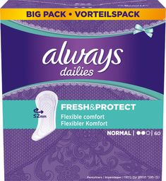 Always  Wkładki higieniczne Dailies Fresh & Protect Normal 60 szt.