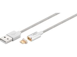 Kabel USB MicroConnect USB A-Micro USB B 1,2m Magnet - USBABMICRO12MAGNET