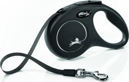 Flexi New Classic Smycz automatyczna taśma S 5m Czarna
