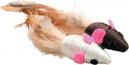 Zolux Zabawki dla kota - 2 myszy z piórkami 5 cm