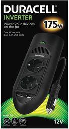 Przetwornica Duracell PRZETWORNICA AC/DC 175W 240V 2 GNIAZDA 2 USB 2.1 - DRINV15-EU - DRINV15-EU