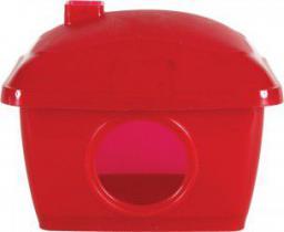 Zolux Domek plastikowy dla chomika 130x110x120 mm kol. czerwony