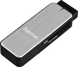 Czytnik Hama HAMA USB 3.0 Card Reader SD/microSD aluminium silver - 123900