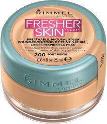 Rimmel  Fresher Skin Foundation SPF15 200 Soft Beige 25ml
