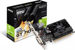 Karta graficzna MSI GeForce GT710 2GB DDR3 (64 Bit) DVI-D, HDMI, D-Sub, BOX (GT 710 2GD3 LP)