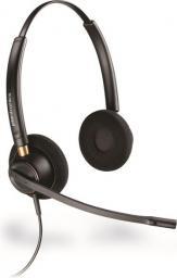 Słuchawki z mikrofonem Plantronics Encore pro HW520 z adapterem DA70 oraz elektronicznym podnośnikiem słuchawki APS11