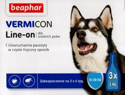 Beaphar Vermicon Dog M - Preparat na ektopasożyty dla psów 15-30 kg