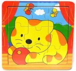 Playme Drewniane puzzle - Kotek
