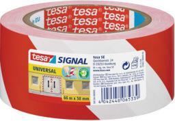 Tesa Taśma pakowa 66 m x 50 mm, Czerwony/biały (11608A)