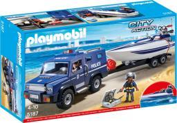 Playmobil Pojazd terenowy policji z motorówką (5187)