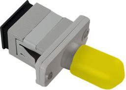 Qoltec Adapter światłowodowy hybrydowy SC/UPC-ST/UPC simplex SingleMode (54155)