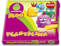 Mona Plastelina 6 kolorów fluorescencyjna (MONA P6F)