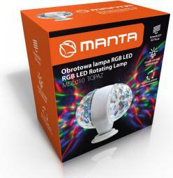 Lampa stołowa Manta Obrotowa lampa RGB disco LED