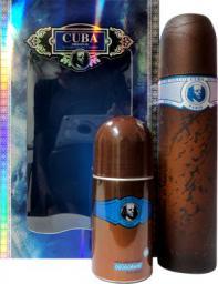 Cuba Blue Zestaw dla mężczyzn EDT 100ml + Dezodorant w kulce 50ml