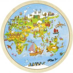 Goki Dwustronne puzzle Poznaj świat z Peggy Diggledey (57479)