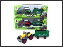 Hipo Traktorek z przyczepą 12cm w pud. (HXDB07)