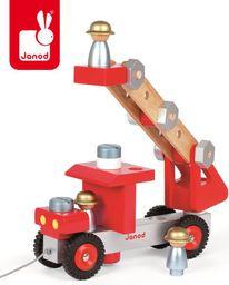 Janod Wóz strażacki do składania drewniany duży (J06498)