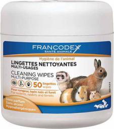FRANCODEX FRANCODEX Chusteczki czyszczące i odświeżające dla gryzoni 50 szt.