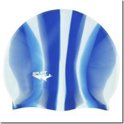 SPURT Czepek pływacki Silikonowy MI10 Zebra niebiesko-biały (11-3-048)