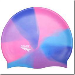 Spurt Czepek pływacki Silikonowy MM118 niebiesko-różowy (11-3-051)