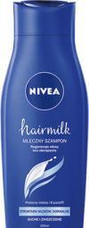 Nivea Hair Milk Szampon mleczny do włosów normalnych, suchych i zniszczonych 400ml