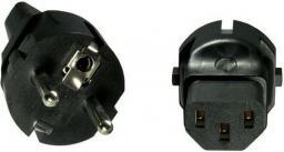 MicroConnect Adapter Schuko CEE7/7 - C13, czarny (PESC13AD)