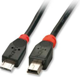 Kabel USB LINDY micro USB/mini USB B, 1m (31958)