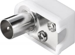 MicroConnect Coax angle plug with screw - COAXADAPTERA1