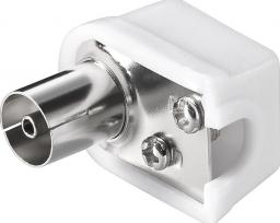 MicroConnect Coax angle jack with screw - COAXADAPTERAF1