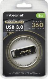 Pendrive Integral 8GB SecureLock 360 (INFD8GB360SEC3.0)