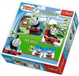 Trefl Puzzle 2w1 + memos Tomek i Przyjaciele (90602 TREFL)