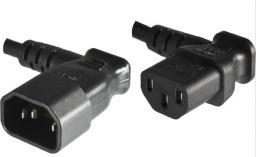 Kabel zasilający MicroConnect Przedłużacz C13 - C14, 0.4m, Czarny (PE040604)
