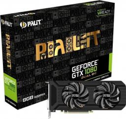 Karta graficzna Palit GeForce GTX1080 DUAL OC 8GB GDDR5X (256 Bit) DVI, HDMI, 3DP, BOX (NEB1080U15P2D)