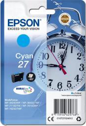 Epson oryginalny tusz 27, cyan (C13T27024012)